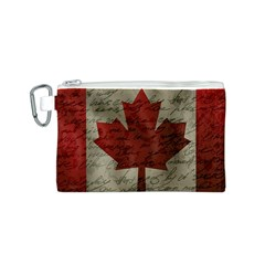 Canada flag Canvas Cosmetic Bag (S)