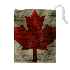 Canada flag Drawstring Pouches (Extra Large)