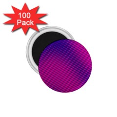 Retro Halftone Pink On Blue 1 75  Magnets (100 Pack)