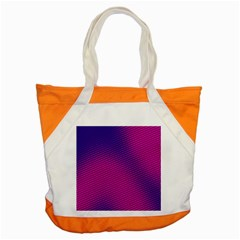 Retro Halftone Pink On Blue Accent Tote Bag