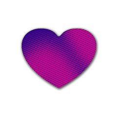 Retro Halftone Pink On Blue Heart Coaster (4 Pack)
