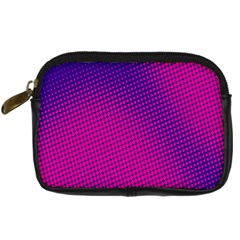 Retro Halftone Pink On Blue Digital Camera Cases