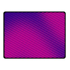 Retro Halftone Pink On Blue Fleece Blanket (Small)