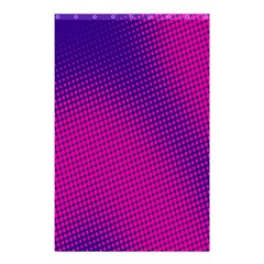 Retro Halftone Pink On Blue Shower Curtain 48  x 72  (Small)