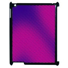 Retro Halftone Pink On Blue Apple iPad 2 Case (Black)
