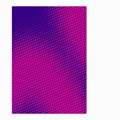 Retro Halftone Pink On Blue Small Garden Flag (two Sides)