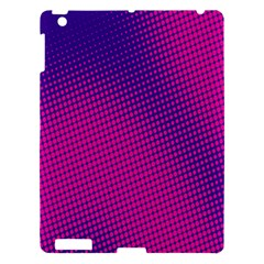 Retro Halftone Pink On Blue Apple Ipad 3/4 Hardshell Case