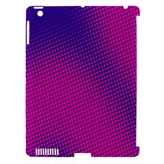 Retro Halftone Pink On Blue Apple iPad 3/4 Hardshell Case (Compatible with Smart Cover)