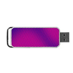 Retro Halftone Pink On Blue Portable USB Flash (One Side)