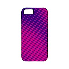 Retro Halftone Pink On Blue Apple iPhone 5 Classic Hardshell Case (PC+Silicone)