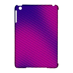 Retro Halftone Pink On Blue Apple iPad Mini Hardshell Case (Compatible with Smart Cover)