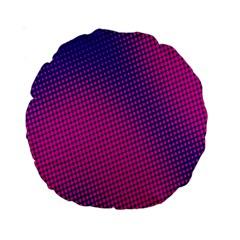 Retro Halftone Pink On Blue Standard 15  Premium Round Cushions