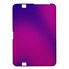 Retro Halftone Pink On Blue Kindle Fire HD 8.9