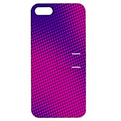 Retro Halftone Pink On Blue Apple iPhone 5 Hardshell Case with Stand
