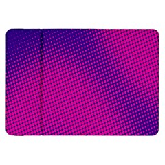 Retro Halftone Pink On Blue Samsung Galaxy Tab 8.9  P7300 Flip Case