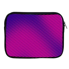 Retro Halftone Pink On Blue Apple iPad 2/3/4 Zipper Cases