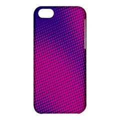 Retro Halftone Pink On Blue Apple iPhone 5C Hardshell Case