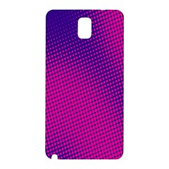 Retro Halftone Pink On Blue Samsung Galaxy Note 3 N9005 Hardshell Back Case