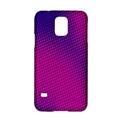Retro Halftone Pink On Blue Samsung Galaxy S5 Hardshell Case