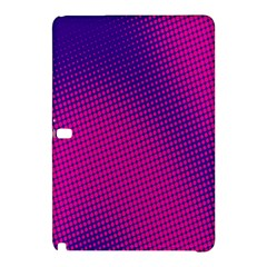 Retro Halftone Pink On Blue Samsung Galaxy Tab Pro 12.2 Hardshell Case