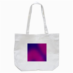 Retro Halftone Pink On Blue Tote Bag (White)
