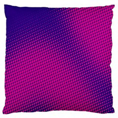 Retro Halftone Pink On Blue Standard Flano Cushion Case (Two Sides)