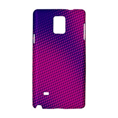 Retro Halftone Pink On Blue Samsung Galaxy Note 4 Hardshell Case