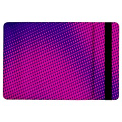 Retro Halftone Pink On Blue iPad Air 2 Flip