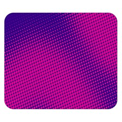 Retro Halftone Pink On Blue Double Sided Flano Blanket (Small)