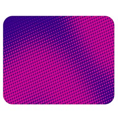 Retro Halftone Pink On Blue Double Sided Flano Blanket (Medium)