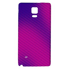 Retro Halftone Pink On Blue Galaxy Note 4 Back Case