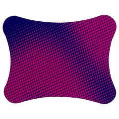 Retro Halftone Pink On Blue Jigsaw Puzzle Photo Stand (Bow)