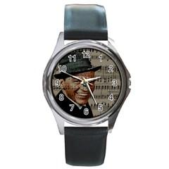 Frank Sinatra  Round Metal Watch