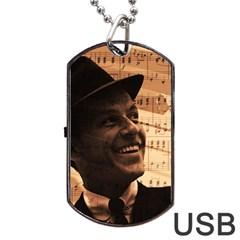 Frank Sinatra  Dog Tag USB Flash (One Side)