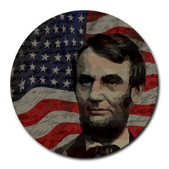 Lincoln day  Round Mousepads
