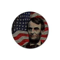 Lincoln day  Rubber Coaster (Round)