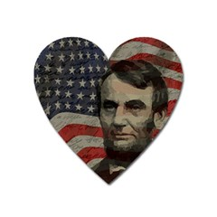 Lincoln day  Heart Magnet
