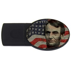Lincoln day  USB Flash Drive Oval (1 GB)