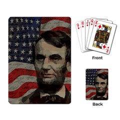 Lincoln day  Playing Card