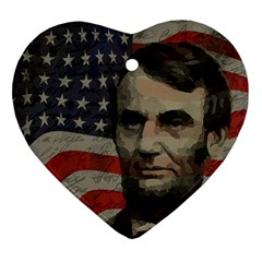 Lincoln day  Heart Ornament (Two Sides)