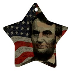 Lincoln day  Star Ornament (Two Sides)