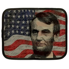 Lincoln day  Netbook Case (Large)