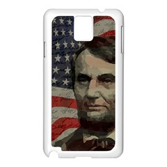 Lincoln day  Samsung Galaxy Note 3 N9005 Case (White)