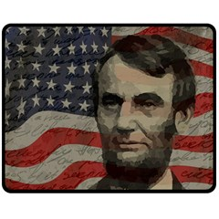 Lincoln day  Double Sided Fleece Blanket (Medium)
