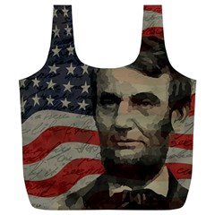 Lincoln day  Full Print Recycle Bags (L)