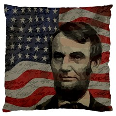 Lincoln day  Standard Flano Cushion Case (Two Sides)