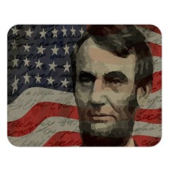 Lincoln day  Double Sided Flano Blanket (Large)