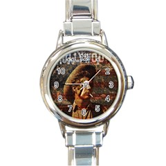 James Dean   Round Italian Charm Watch