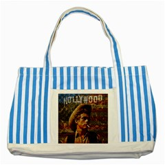 James Dean   Striped Blue Tote Bag