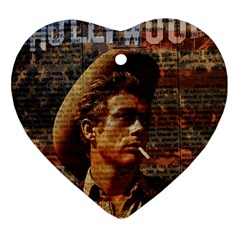 James Dean   Heart Ornament (Two Sides)